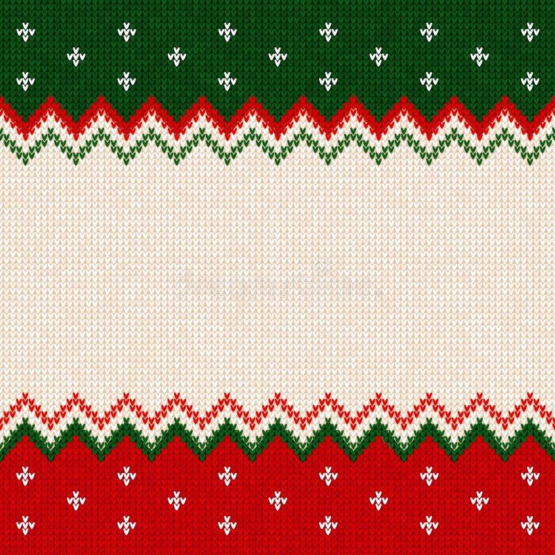 Ornamenti dello scandinavo della struttura della cartolina d'auguri del buon anno di Buon Natale royalty illustrazione gratis