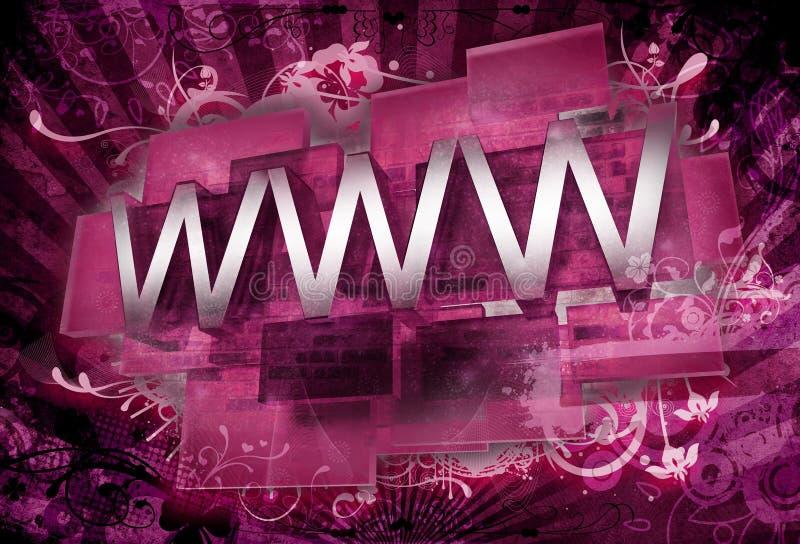 ornamenti di 3D WWW illustrazione vettoriale