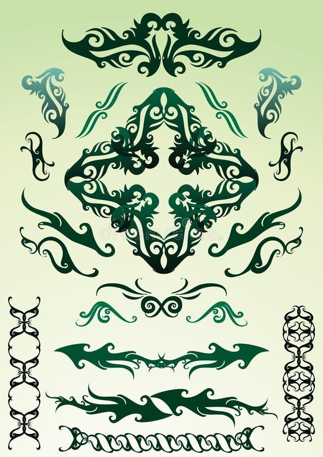 Ornamenti di disegno impostati royalty illustrazione gratis