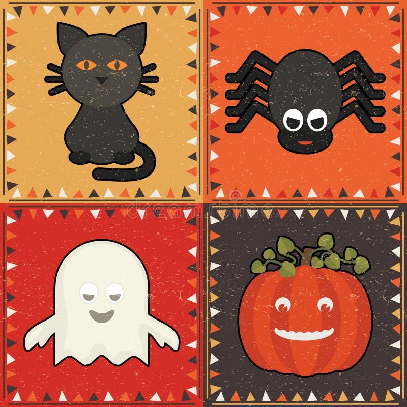 Ornamenti di Halloween royalty illustrazione gratis