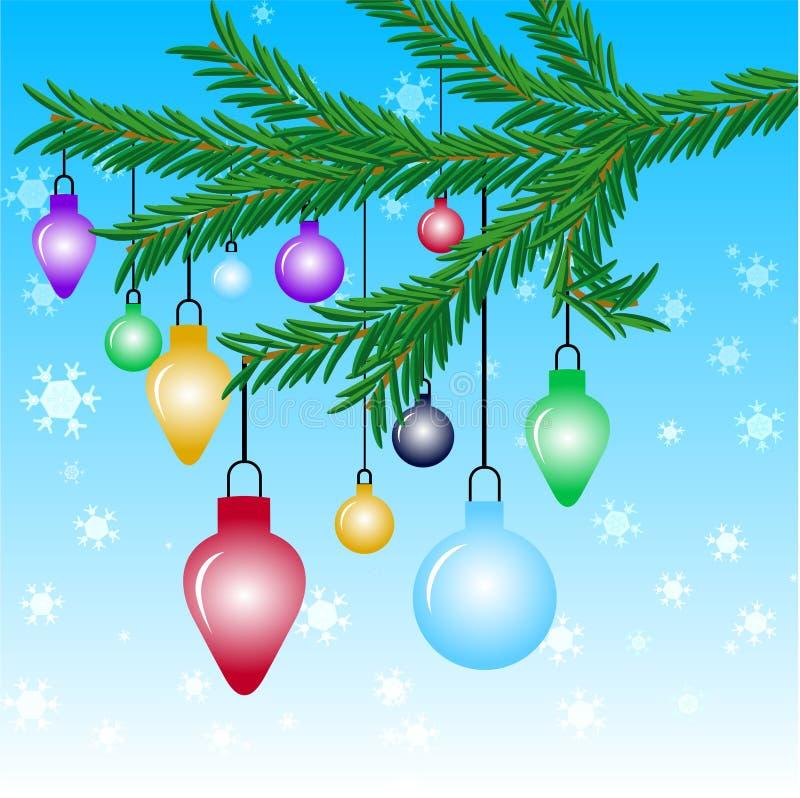 Download Ornamenti di natale illustrazione vettoriale. Illustrazione di neve - 210033