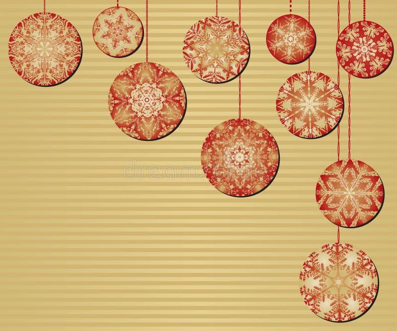 Ornamenti di natale del fiocco di neve illustrazione di stock