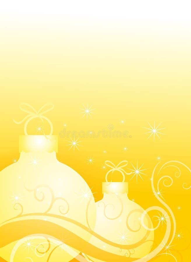 Ornamenti di natale in oro royalty illustrazione gratis