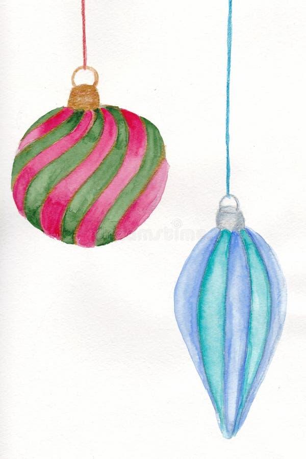 Ornamenti di vetro di Natale immagine stock libera da diritti