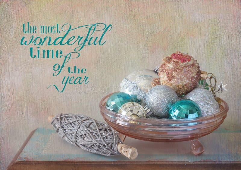 Ornamenti ed acclamazione di Natale fotografia stock libera da diritti