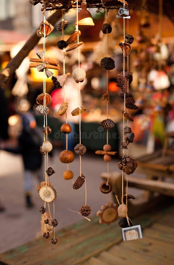 Ornamenti fatti a mano di natale immagine stock