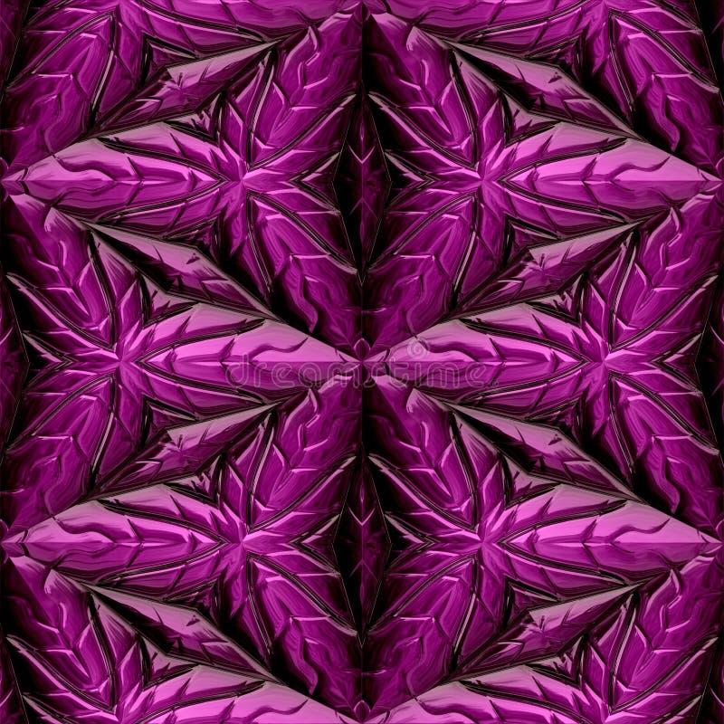 Ornamenti maya rosa illustrazione di stock