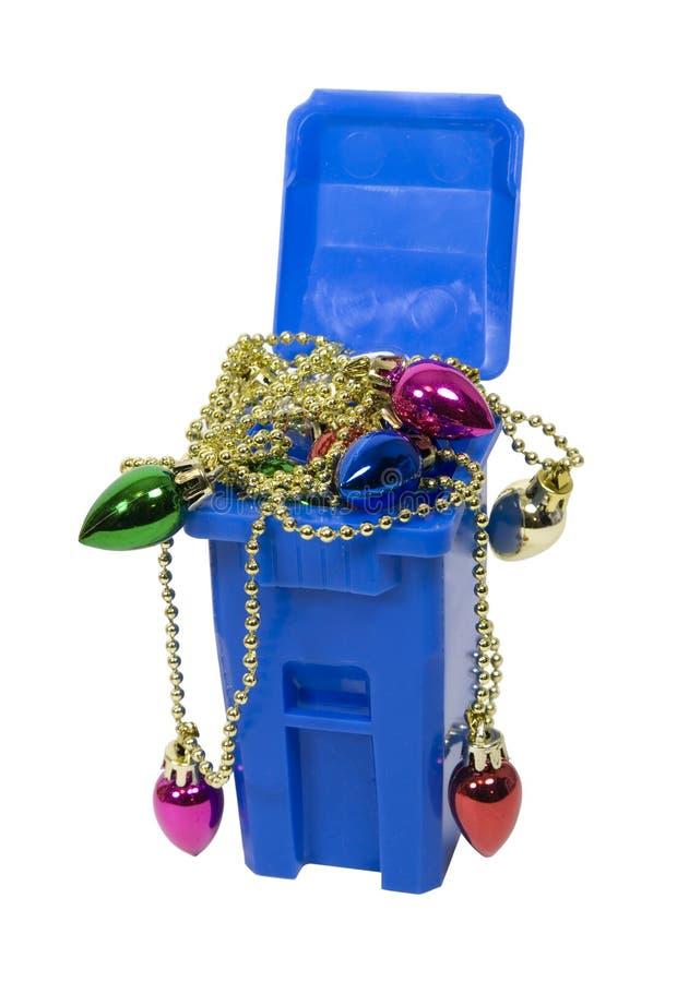 Ornamenti riciclati fotografia stock