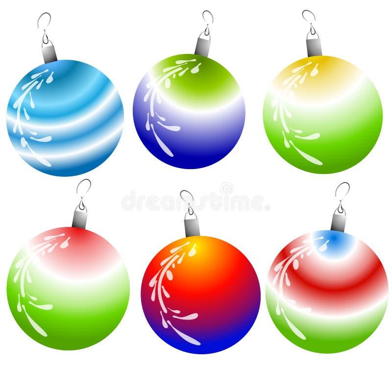 Ornamenti unici di natale illustrazione di stock