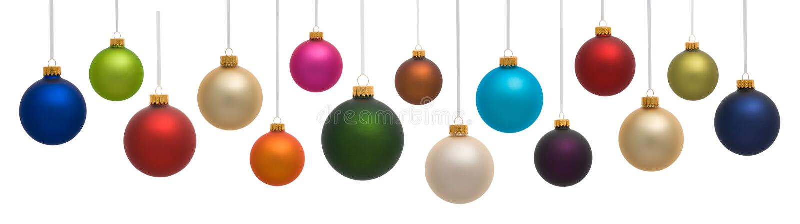 Ornamenti variopinti di natale fotografia stock