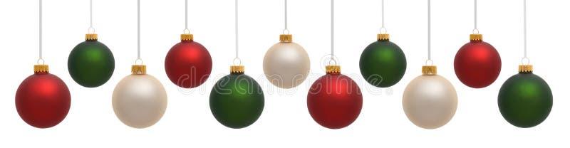 Ornamenti variopinti di natale fotografia stock libera da diritti