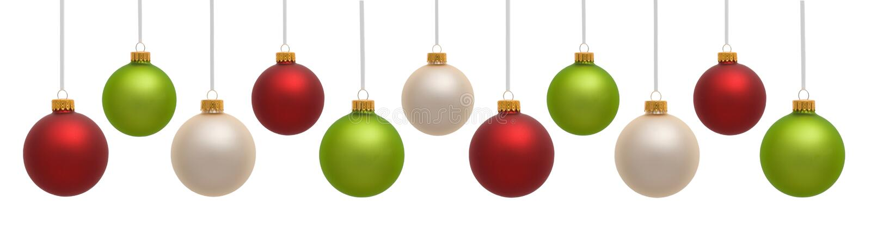 Ornamenti variopinti di natale immagini stock