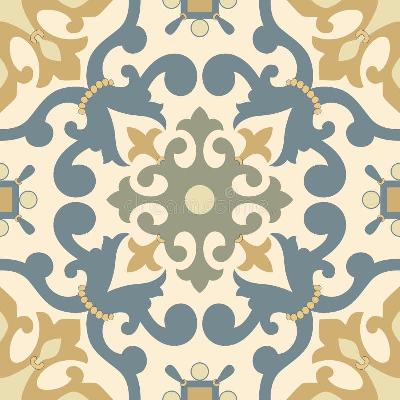 Ornamento árabe tradicional sem emenda para seu projeto Papel de parede do Desktop Fundo Iznik ilustração royalty free