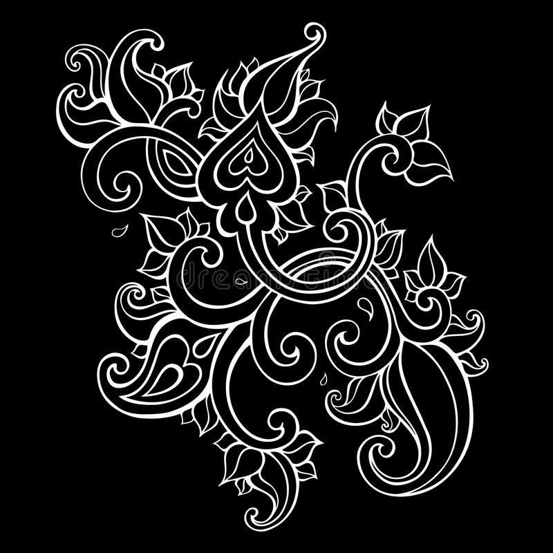 Ornamento étnico de Paisley ilustração royalty free