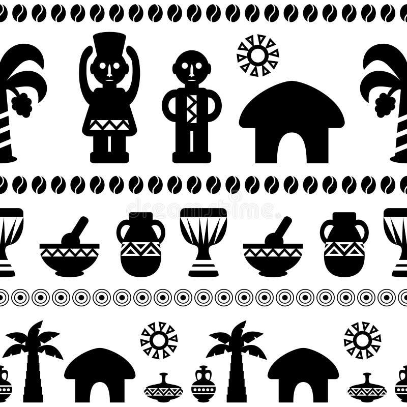 Ornamento étnico do teste padrão tribal africano ilustração royalty free