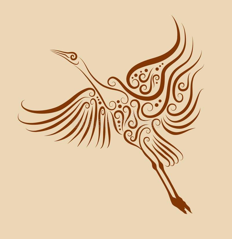 Ornamento 02 do pássaro ilustração stock