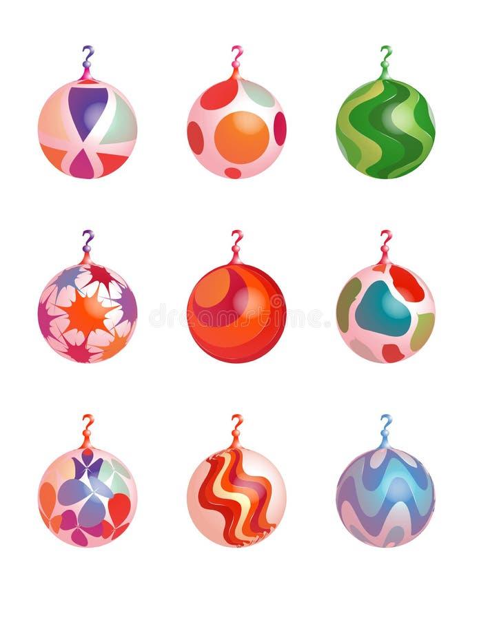 Ornamento 2 do Natal ilustração royalty free