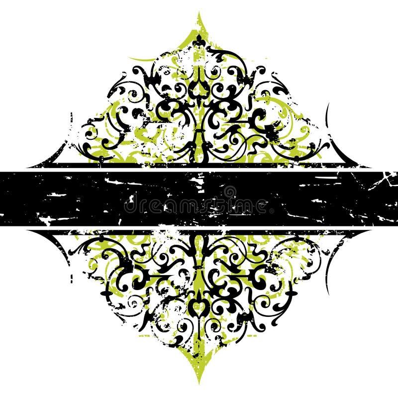 Ornamento abstracto de Grunge stock de ilustración