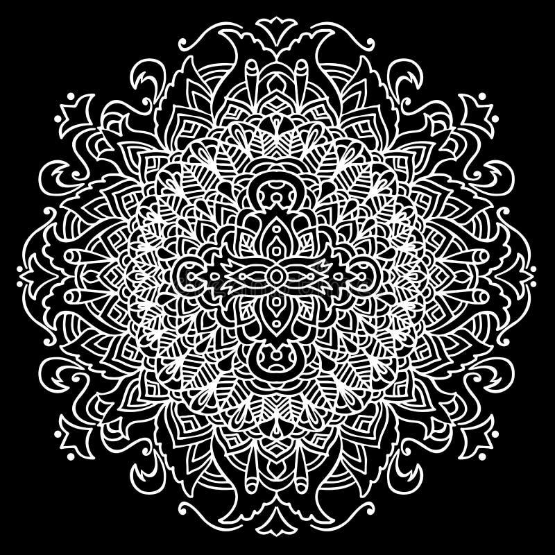 Ornamento Abstracto De La Mandala Para Los Libros De Colorear ...
