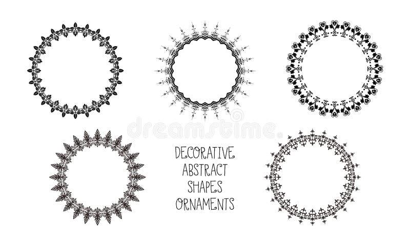 Ornamento abstracto decorativo de las formas imágenes de archivo libres de regalías