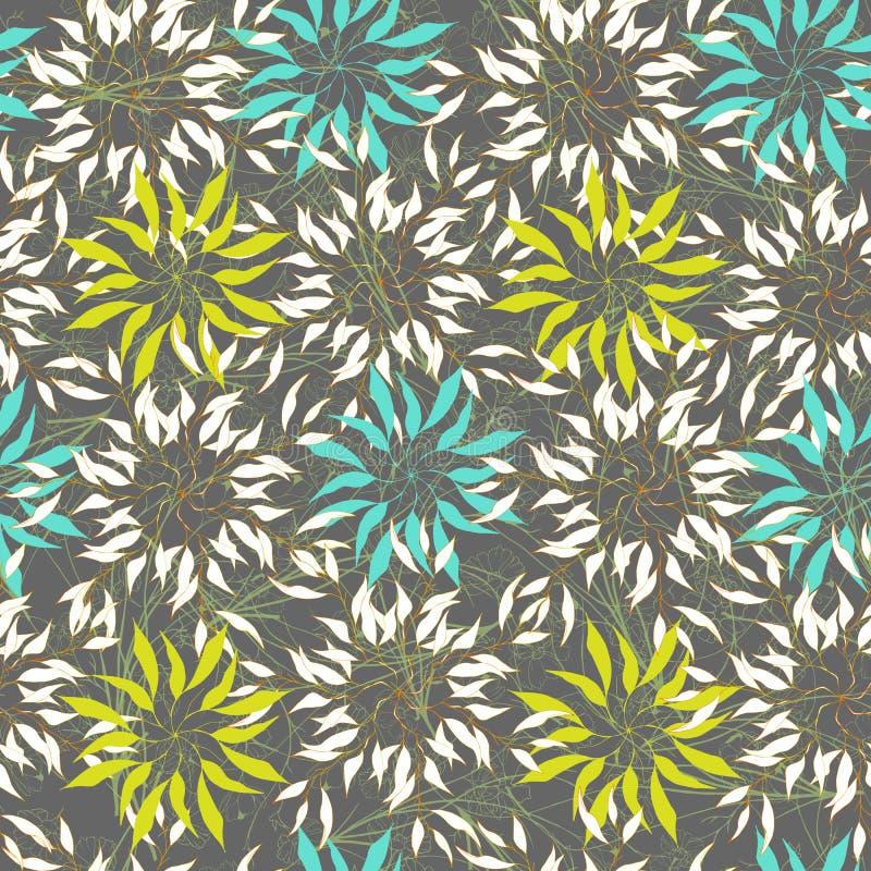 Ornamento abstracto en un fondo gris Textura inconsútil para el tkinini y las tejas Fondo del este del vector libre illustration
