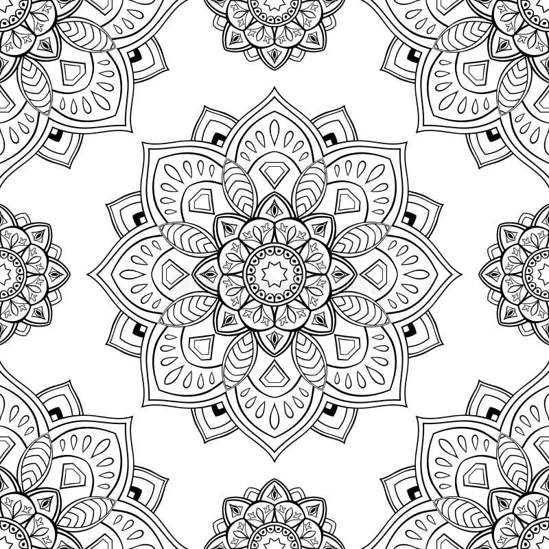 Ornamento abstracto oriental ilustración del vector