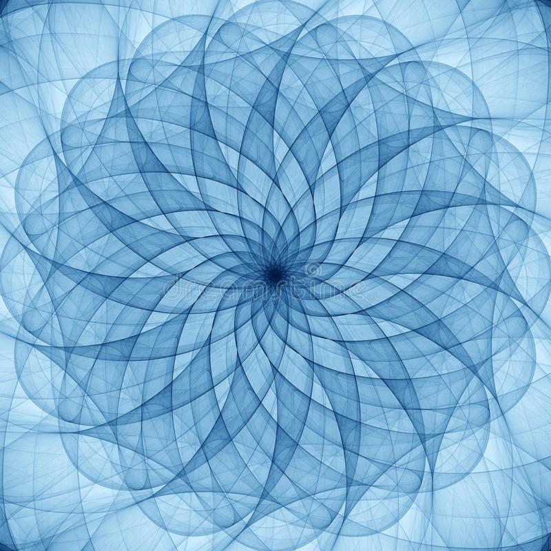 Ornamento abstrato azul ilustração royalty free