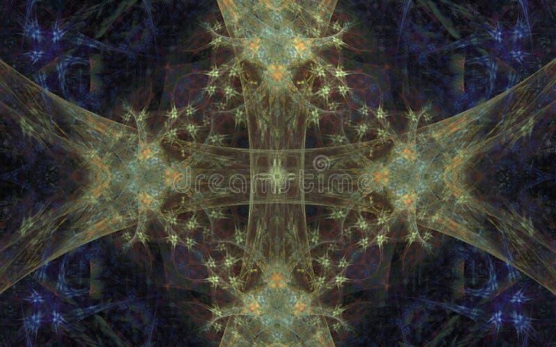 Ornamento abstrato das fitas ilustração royalty free