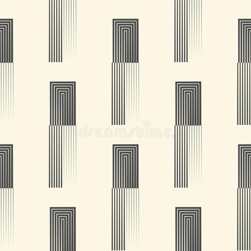 Ornamento abstrato de Minimalistic Papel de parede decorativo infinito ilustração royalty free