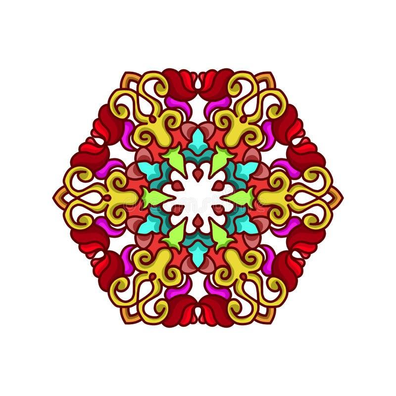 Ornamento abstrato do círculo imagem de stock
