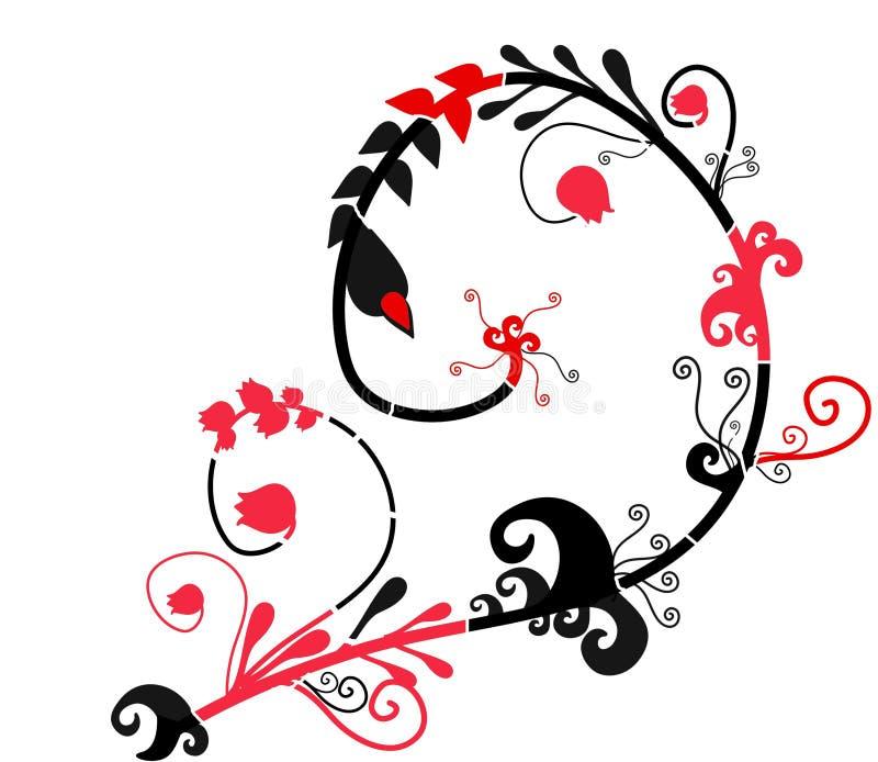 Ornamento abstrato do estilo do folt ilustração stock
