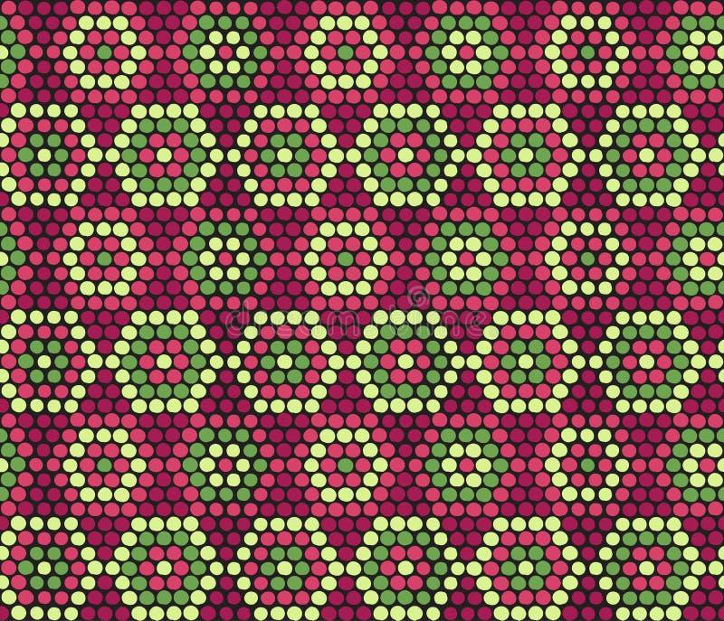 Ornamento africano étnico tradicional Teste padrão sem emenda do vetor Seja ilustração do vetor