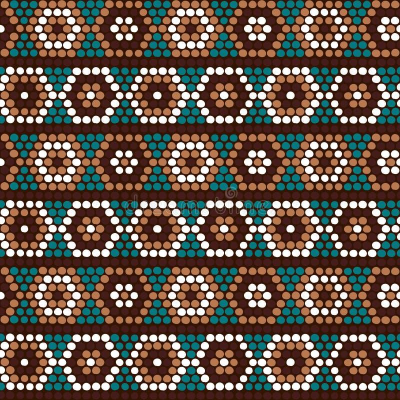 Ornamento africano étnico tradicional Teste padrão sem emenda do vetor Seja ilustração stock