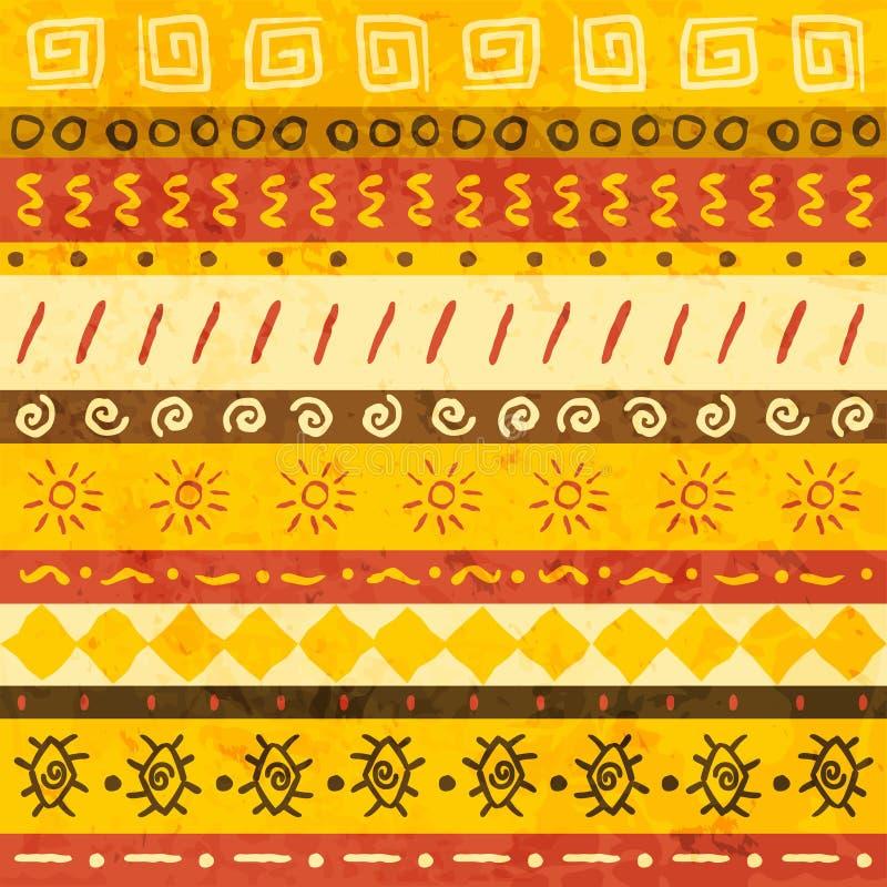 Ornamento africano ilustración del vector