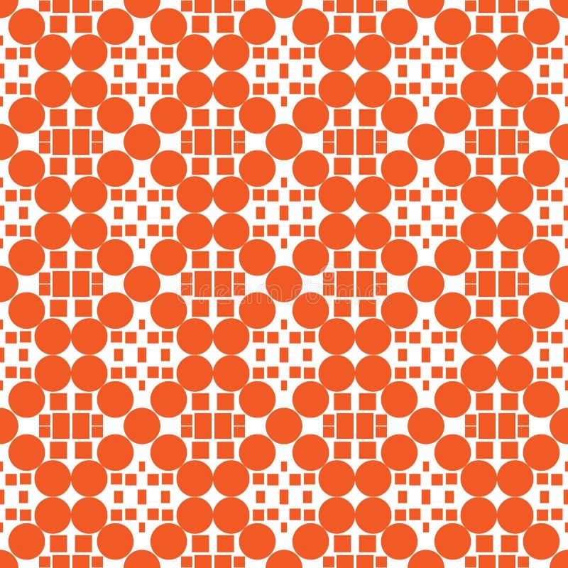 Ornamento anaranjado de lujo - modelo inconsútil stock de ilustración
