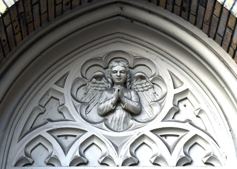 Ornamento: Anjo que reza imagens de stock royalty free