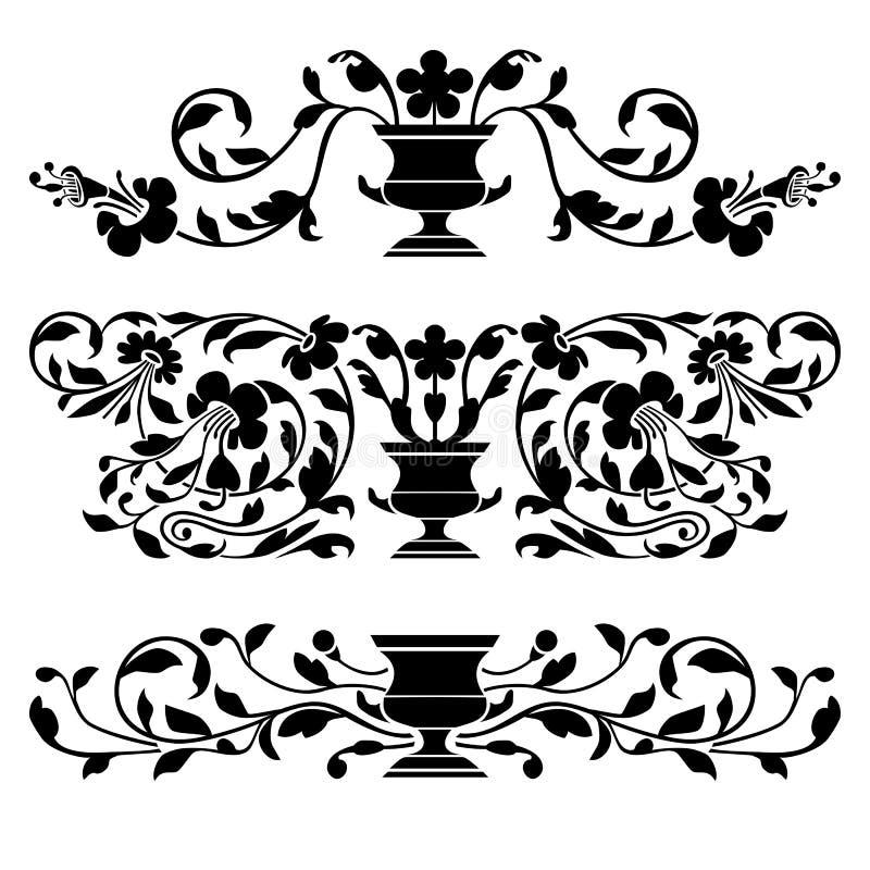 Ornamento antigos do vetor ilustração do vetor