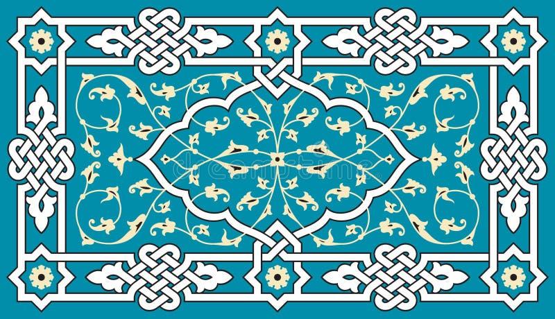 Ornamento arabo floreale illustrazione di stock
