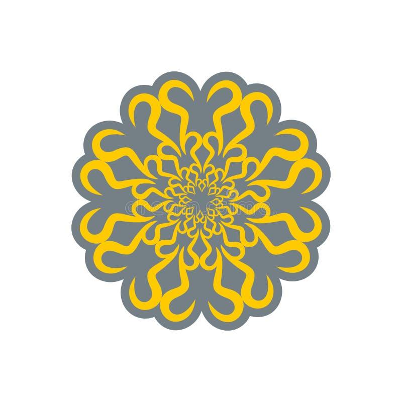 Ornamento arabo isolato Rosetta decorativa orientale S islamica royalty illustrazione gratis