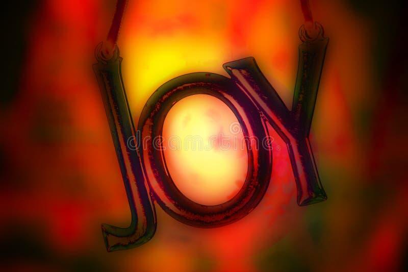 Ornamento ardiente de la alegría fotografía de archivo libre de regalías