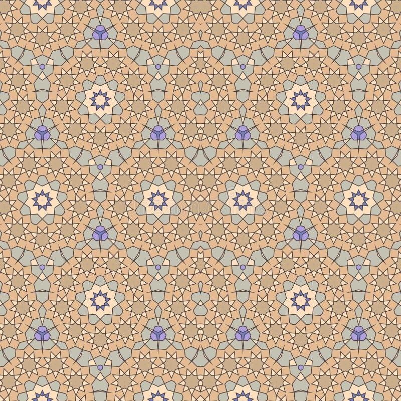 Ornamento artístico de Quasicrystal o modelo medieval inconsútil con las estrellas estilizadas en estilo árabe Geometría sagrada  libre illustration