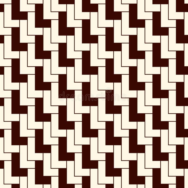 Ornamento asiático con las conchas de peregrino repetidas Adorno triangular de las escalas Modelo superficial inconsútil con los  stock de ilustración