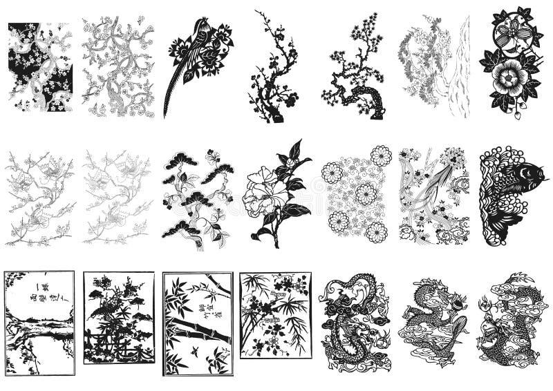 Ornamento asiatico immagine stock