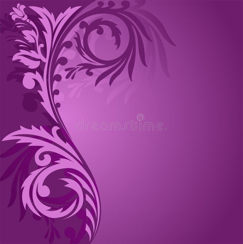 Ornamento asimétrico púrpura ilustración del vector