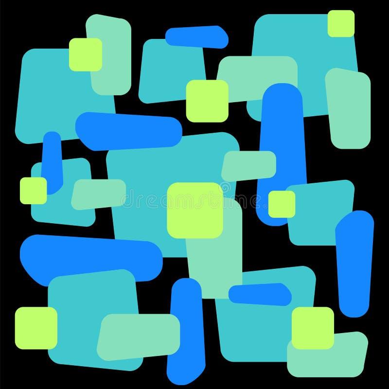 Ornamento astratto sulle mattonelle quadrate Modello decorativo geometrico variopinto illustrazione vettoriale