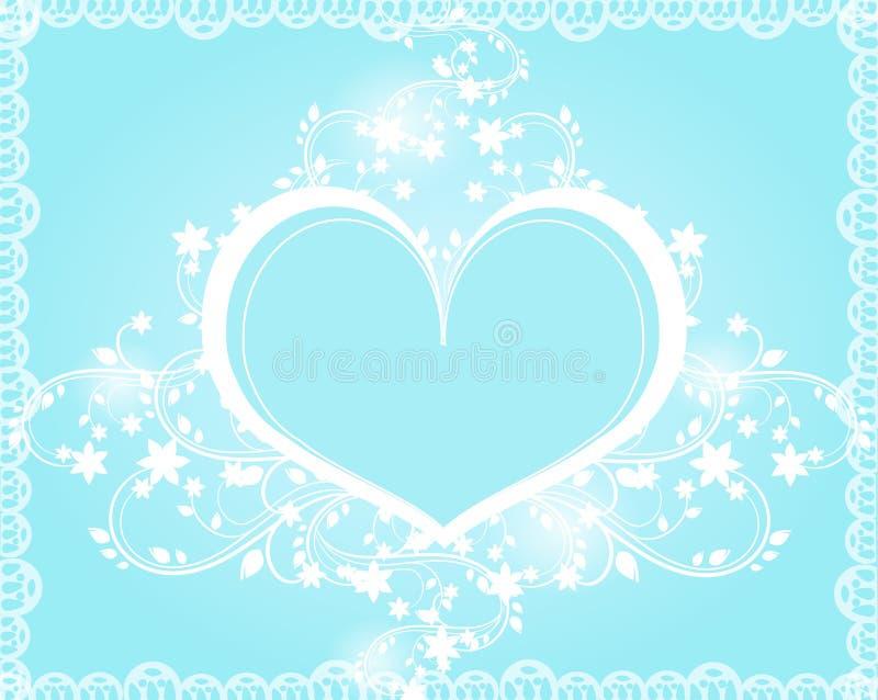 Ornamento azuis do coração ilustração stock