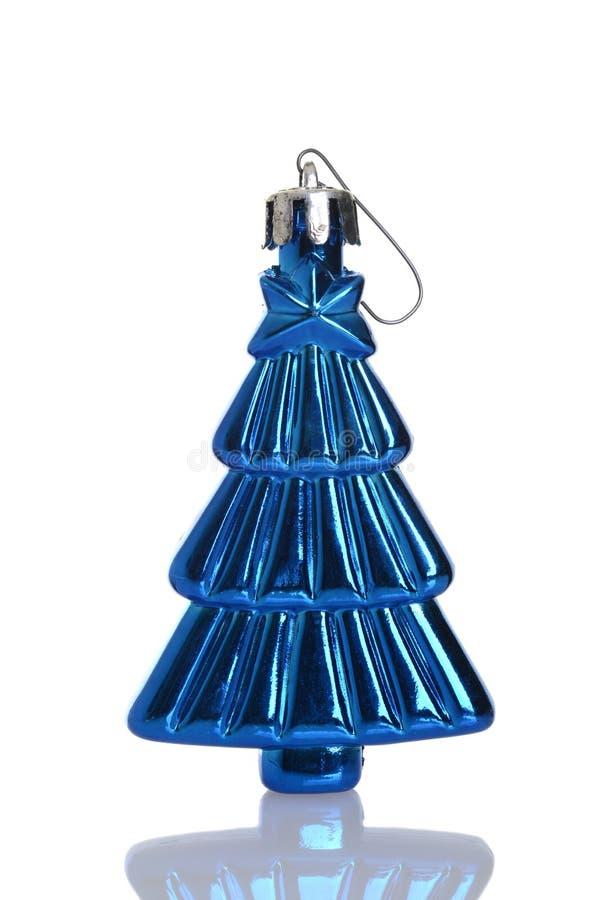 Ornamento azul antiguo del árbol de navidad fotos de archivo