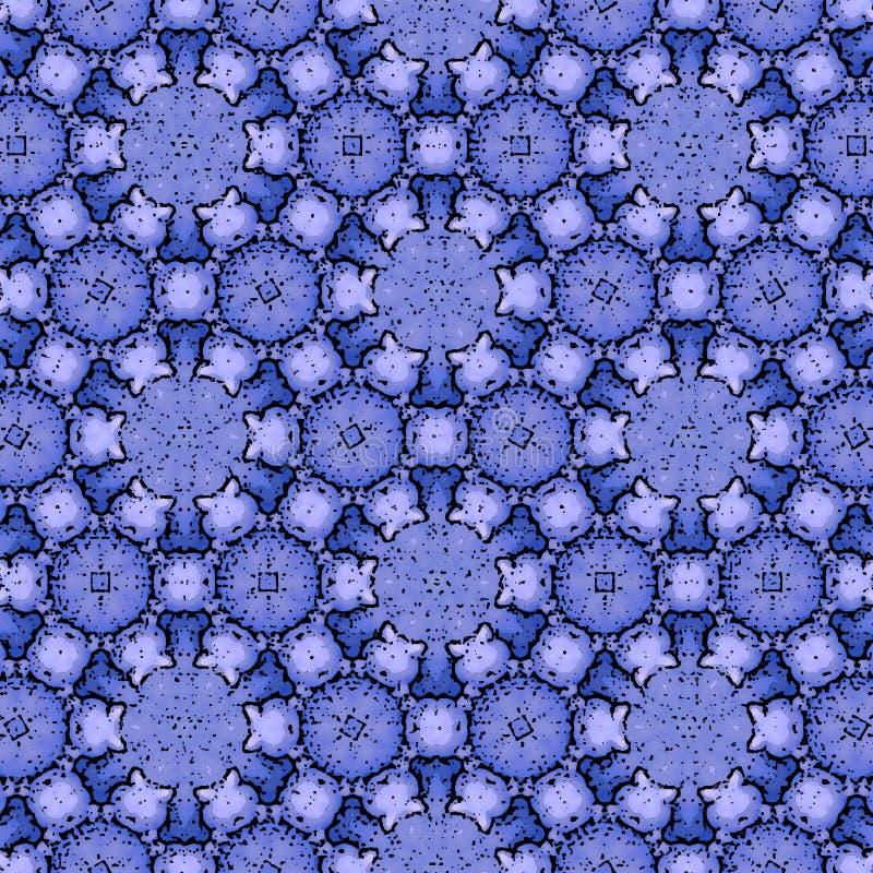 Ornamento azul contínuo do Natal para o projeto da tampa ou da matéria têxtil ilustração royalty free
