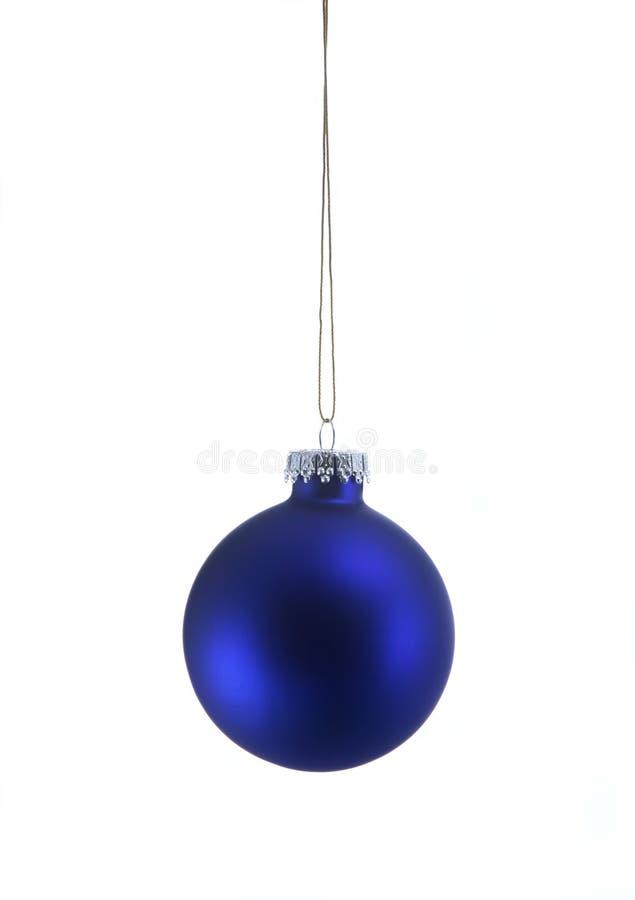 Ornamento azul de la Navidad fotos de archivo