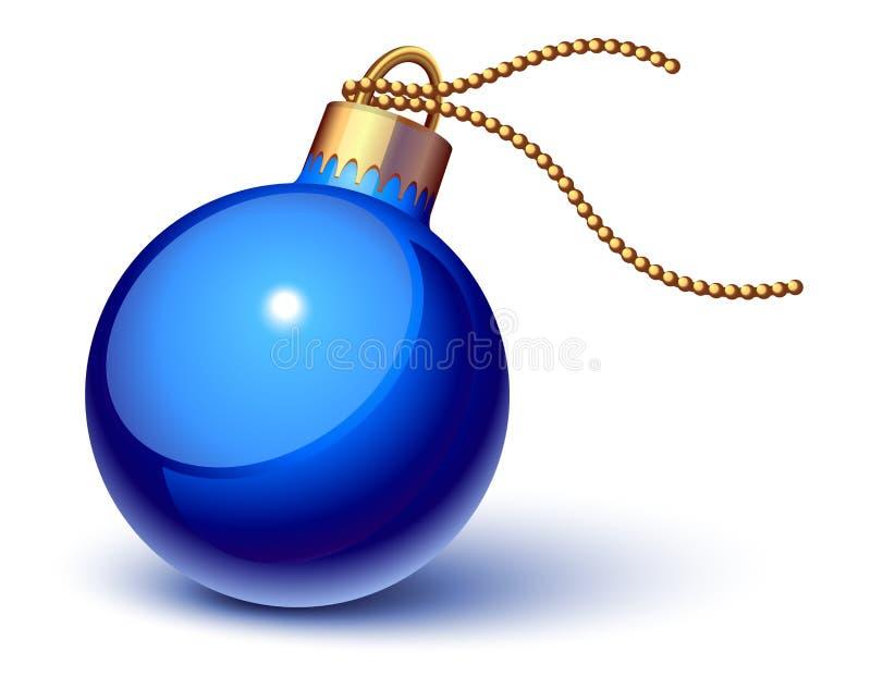 Ornamento azul de la Navidad stock de ilustración